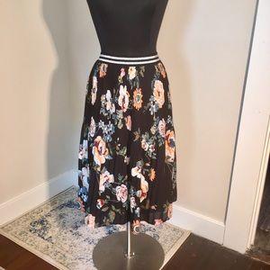 Ava & Viv Fall Floral Midi Skirt PLUS!